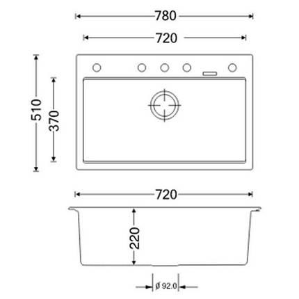 Кухонная мойка Apell Pietra Plus PTPL780GW Total white, фото 2