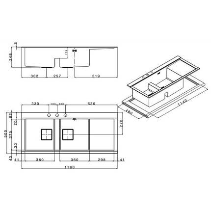 Кухонная мойка Apell Sinphonia PD1162IRKITW Satin, фото 2