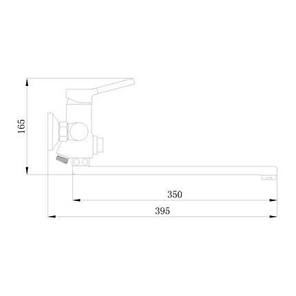 Смеситель для ванны Q-tap Inspai CRM 005 New, фото 2