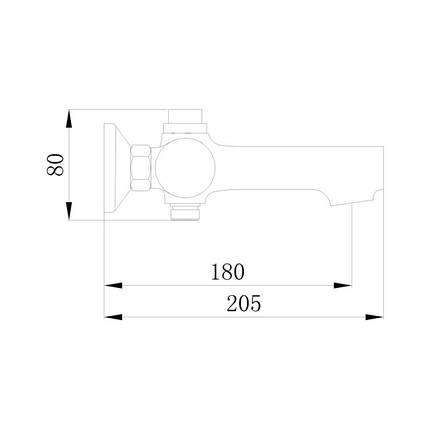 Смеситель для ванны Q-tap Inspai CRM 006, фото 2