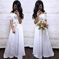 Женское Платье Крестьянка  (42-44, 46-48, 50-52, цвет разный)