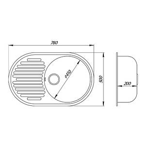 Кухонная мойка GF 780x500/200 COL-06 (GFCOL06780500200), фото 2