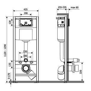 Инсталяция Q-tap Nest M425-M11SAT с панелью смыва Satin, фото 2