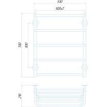 Полотенцесушитель водяной Q-tap Standard shelf P5 500x700 (QTSTNDCRMP5500700SH), фото 2