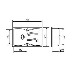 Кухонная мойка GF 790x500/200 MAR-07 (GFMAR07790500200), фото 2