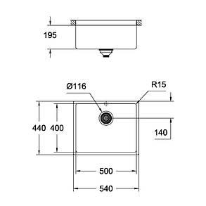 Кухонная мойка Grohe Sink K700 Undermount 31574AL0, фото 2
