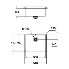 Кухонная мойка Grohe Sink K700 Undermount 31574DL0, фото 2