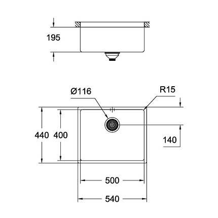 Кухонная мойка Grohe Sink K700U 31574SD0, фото 2