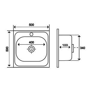 Кухонная мойка Imperial 5050 Decor (IMP5050DEC), фото 2