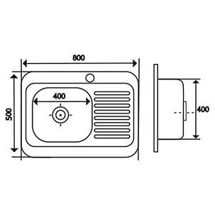 Кухонная мойка Imperial 5080-L Decor (IMP5080LDEC), фото 2