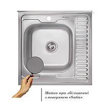 Кухонная мойка Imperial 6060-L Satin (IMP6060LSAT), фото 2