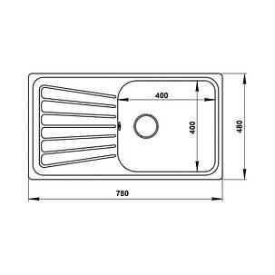 Кухонная мойка Imperial 7848 Decor (IMP7848DEC), фото 2