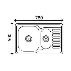 Кухонная мойка Imperial 7850 Decor (IMP7850DECD), фото 2