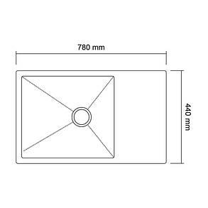 Кухонная мойка Imperial Handmade D7844BR 3.0/1.2 мм (IMPD7844BRPVDH12), фото 2