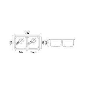 Кухонная мойка ULA 5104 Micro Decor (ULA5104DEC08), фото 2