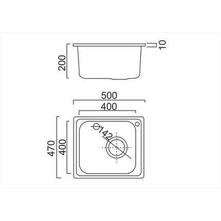Кухонная мойка ULA 6110 Micro Decor (ULA6110DEC08), фото 2