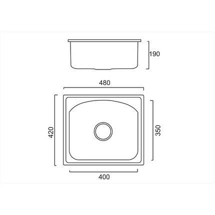 Кухонная мойка ULA 6112 Micro Decor (ULA6112DEC08), фото 2