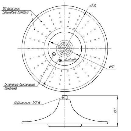 Лейка для верхнего душа Q-tap 0040 WHI, фото 2