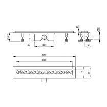 Линейный трап Q-tap Dry FC304-800 с сухим затвором 800 мм, фото 2