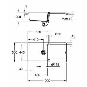 Мойка гранитная Grohe Sink K500 31645AT0, фото 2