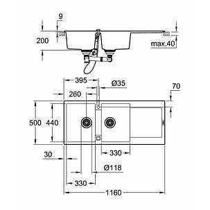 Мойка гранитная Grohe Sink K500 31647AT0, фото 2