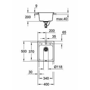 Мойка гранитная Grohe Sink K700 31650AT0, фото 2