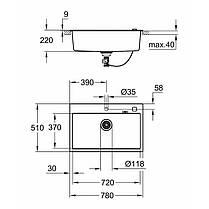 Мойка гранитная Grohe Sink K700 31652AT0, фото 2