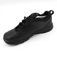 Кроссовки мужские демисезонные кожаные (Черный цвет) Размер 44, повседневные