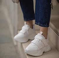 Женские кроссовки SOFIMARAT Белые на липучках 36 размер (22,5см-23см)