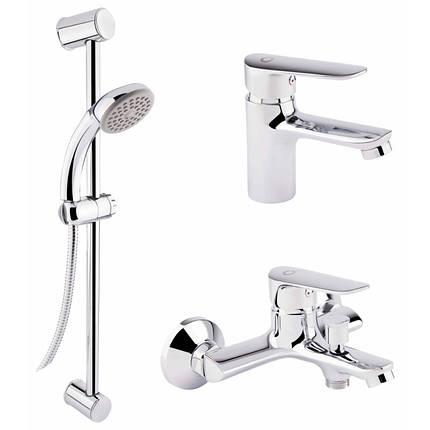 Набор смесителей для умывальника, ванны и душевая стойка Q-tap Set CRM 35-211, фото 2