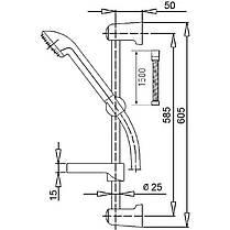 Набор смесителей и душевая стойка 3 в 1 Q-tap Set CRM 40-111, фото 3