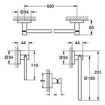 Набораксессуаров Grohe Essentials 4в1 (40823001), фото 2