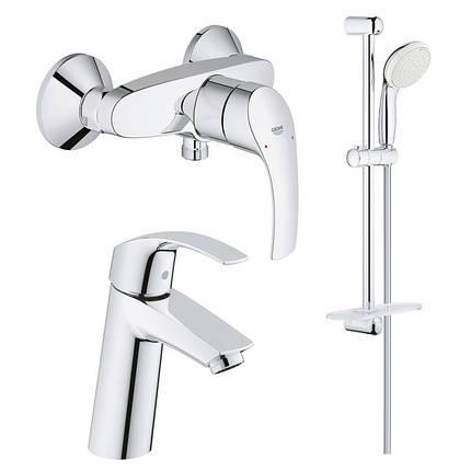 Набор смесителей для ваннойком. 3в1 Grohe Eurosmart 123244M (23324001+33555002+27926001), фото 2