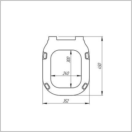 Сиденье для унитаза Azzurra Glaze GLZ1800, фото 2