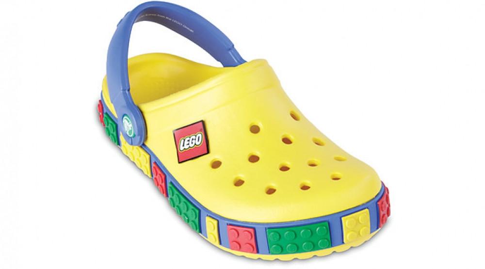 Детские кроксы Crocs Crocband LEGO желтые (J) разм.