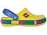 Детские кроксы Crocs Crocband LEGO желтые (J) разм., фото 2