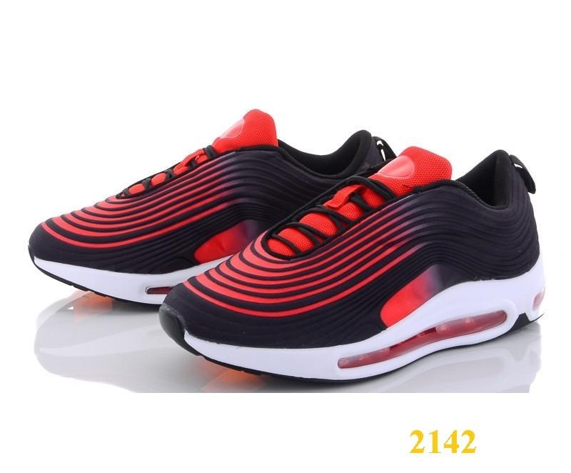 Кроссовки аирмакс на амортизаторах силиконовой подушке омбре черно-красные 36, 38, 39, 40 (2142)