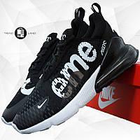 Мужские кроссовки в стиле Nike Air Max 270 Supreme Black Черные