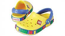 Кроксы детские Crocs Crocband LEGO желтые (С) разм.