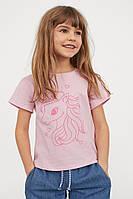 Летняя симпатичная футболка Единорог  для девочки