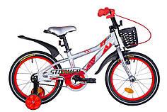 """Велосипед 16"""" Formula STORMER 2020 (серебристо-красный)"""