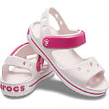 Детские сандалии Crocs Crocband Sandal розовые (J) разм., фото 4
