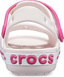 Детские сандалии Crocs Crocband Sandal розовые (J) разм., фото 5