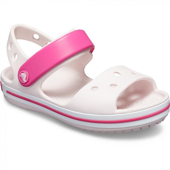 Детские сандалии Crocs Crocband Sandal розовые (J) разм.