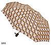 Зонт женский полуавтомат геометрия желто-коричневого оттенка