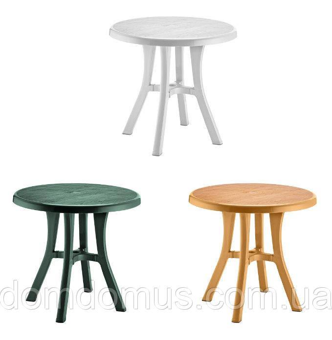 """Стол пластиковый круглый """"Royal"""" 80 см диаметр, Irak Plastik,Турция, зеленый"""
