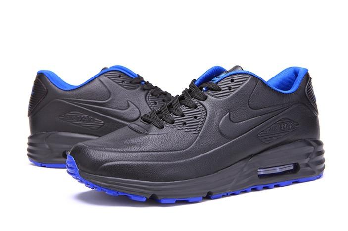 2eda8980 Мужские кроссовки Nike Air Max Lunar 90 SP черно-синие - SHOES-INTIME в