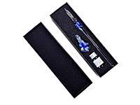 Перьевая ручка с чернилами Dip стеклянная  Синий