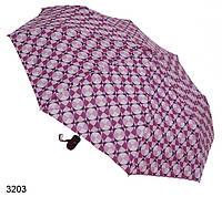 Зонт женский полуавтомат геометрия бордовый