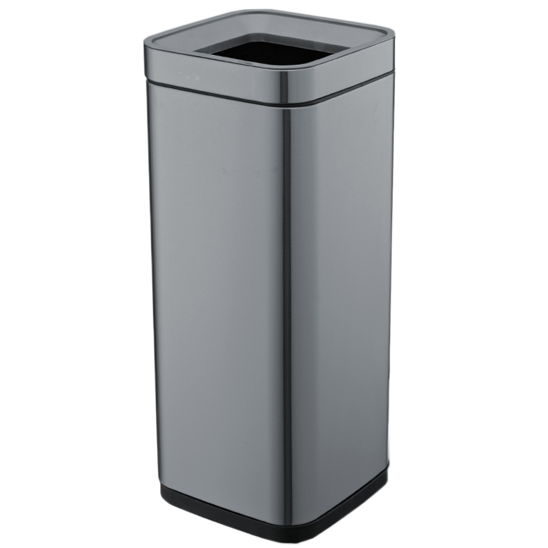 Відро для сміття JAH 30 л темно-срібний металік без кришки і внутрішнього відра